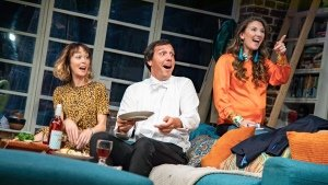 l-r Laura Patch, Alex Gaumond, Summer Strallen in What's In A Name UK Tour - Credit Piers Foley for Target Live