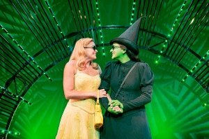 Helen Woolf (Glinda) and Nikki Bentley (Elphaba) - Photo By Matt Crockett