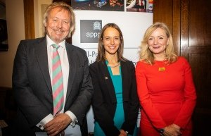 Giles Watling MP, Helen Whately MP and Tracy Brabin MP at the Theatre APPG launch (c) Pamela Raith.