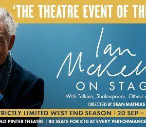 Ian McKellen on Stage at The Harold Pinter Theatre