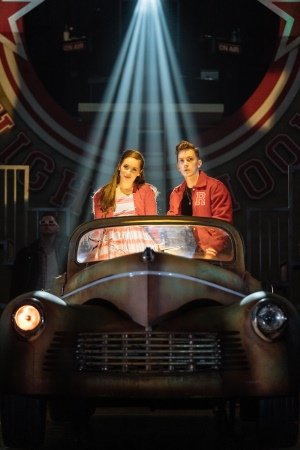 Martha Kirby as Sandy and Dan Partridge as Danny in the UK and Ireland tour of GREASE, credit Manuel Harlan.