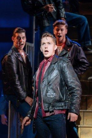 Dan Partridge as Danny in the UK and Ireland tour of GREASE, credit Manuel Harlan.