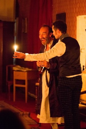 A Christmas Carol at Scrooge's Parlour - Al Barclay and JimJack Whitam - photo by Brendan Bell.