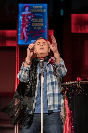 Shane Richie (Hugo) in Everybody's Talking About Jamie at the Apollo Theatre. Photo credit Johan Perrson.