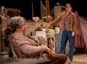 Maggie McCarthy and Siobhan O'Kelly in The Beauty Queen of Leenane, photo by Ian Hodgson.