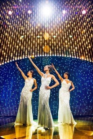 Kimmy Edwards, Brennyn Lark, Asmeret Ghebremichael in Dreamgirls West End - Credit Matt Crockett.