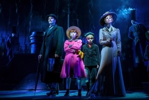 Joseph Millson, Amy Griffiths and Company in Mary Poppins - Photograph Johan Persson.