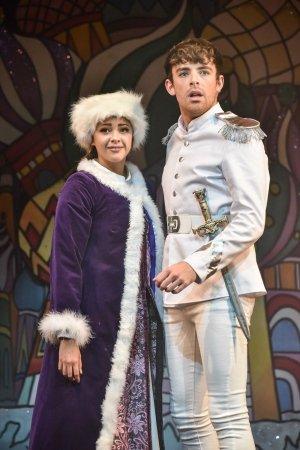 Esme Bacalla-Hayes as Anastasia and Regan Burke as Ewan in Sleeping Beauty, Greenwich Theatre, photo (c) Robert Day