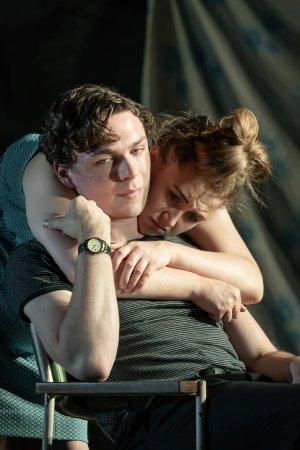 Gemma Dobson (Jo) and Stuart Thompson (Geoffrey) - A Taste of Honey - credit Marc Brenner