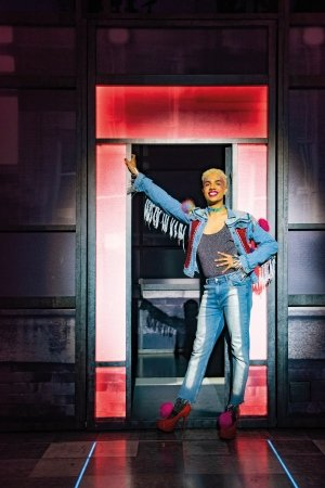Noah Thomas (Jamie New) in Everybody's Talking About Jamie at the Apollo Theatre. Photo credit Matt Crockett.