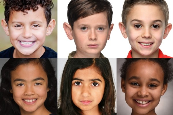 Clockwise Leo Babet, Jonah Collier, Taylor Jenkins, Hannah Selk, Iman Pabani & Mia Lakha from The Prince of Egypt.