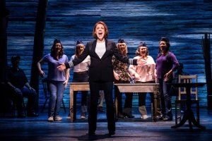 West End company in Come From Away at the Phoenix Theatre Credit Matthew Murphy.