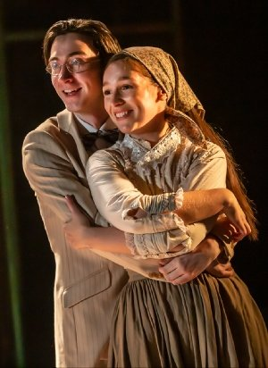 Oisin Nolan-Powell as Ben & Martha Kirby as Bella in RAGS credit Pamela Raith.