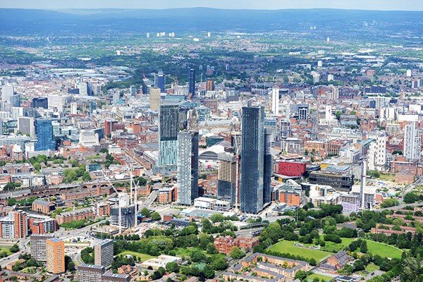 50 Mile Helicopter Tour of Manchester