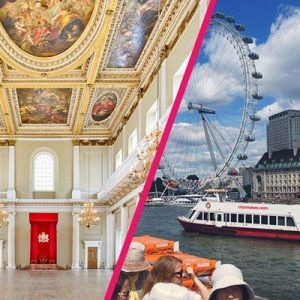 Family Thames Sightseeing Cruise and Entry to Banqueting House