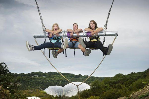 Hangloose at The Eden Project - Zip Wire, Giant Swing and Big Air and The Drop