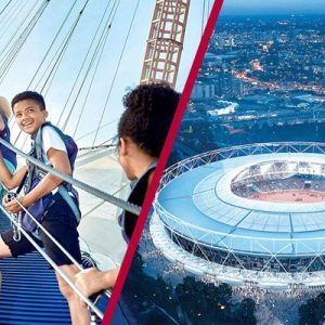 London Stadium Tour and Up at the O2 Experience for Two