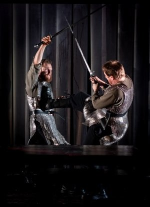 Paul Tinto and Ewan Somers in Macbeth, photo by Mark Sepple.