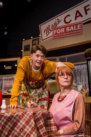 Josh Barrow and Wendy Nottingham in Time & Tide, Park Theatre - Credit Gail Harland.
