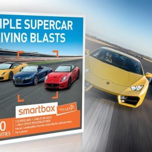 Triple Supercar Driving Blasts - Smartbox by Buyagift