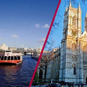 Visit to Westminster Abbey and Thames Cruise Rover Pass for Two