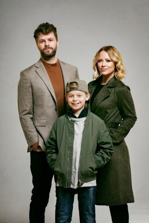 Jay McGuiness, Kimberley Walsh and Theo Collis, credit Matt Crockett.