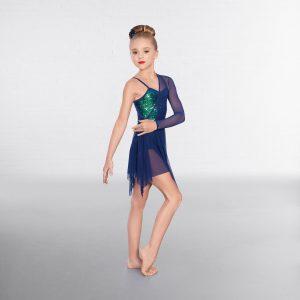 1st Position Asymmetrical Iridescent Sequin Lyrical Dress