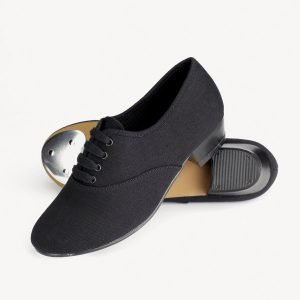 1st Position Boys Canvas Low Heel Oxford Tap Shoes