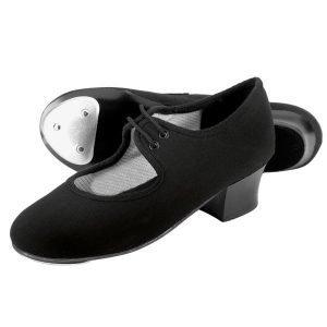 1st Position Canvas Cuban Heel Tap Shoes