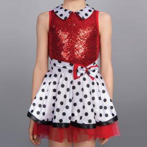 1st Position Dotty Collar Sequin Glitz Dress
