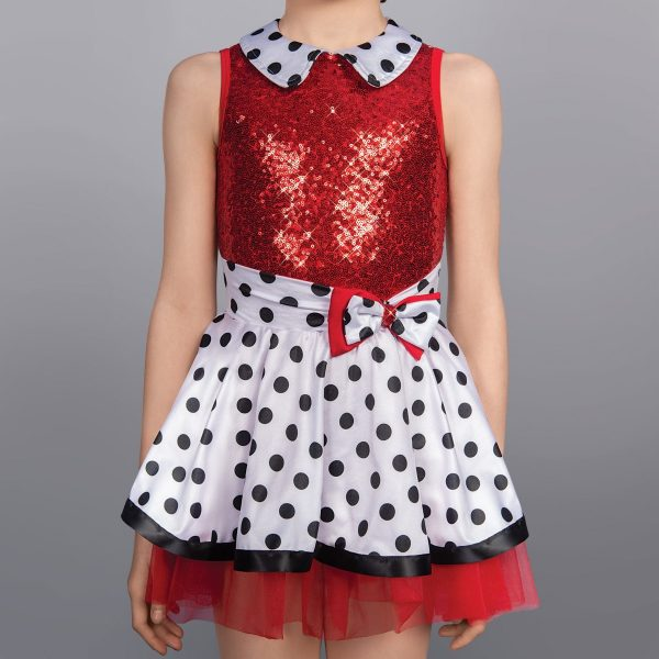 1st Position Dotty Collar Sequin Glitz Dress