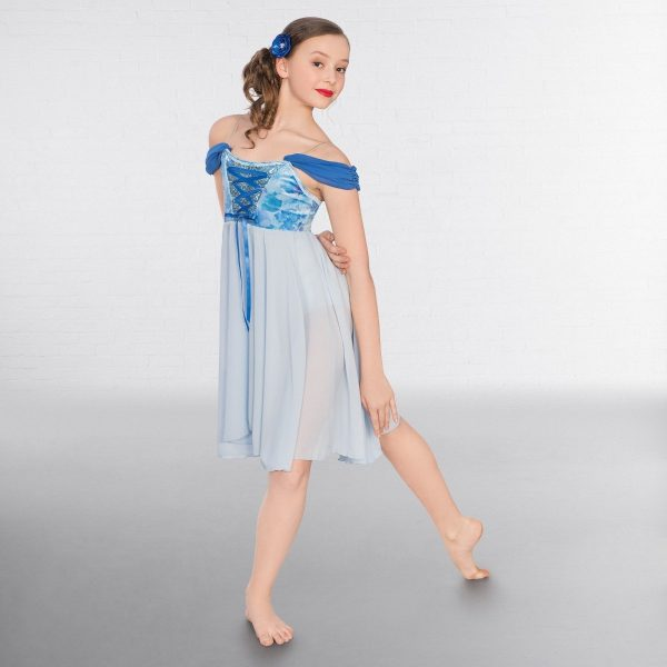 1st Position Floral Corseted Bodice Lyrical Dress