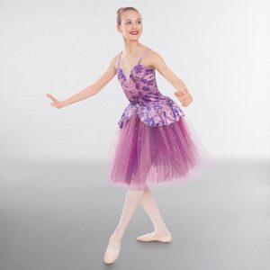 1st Position Pink Purple Sequin Two Piece Dance Costume