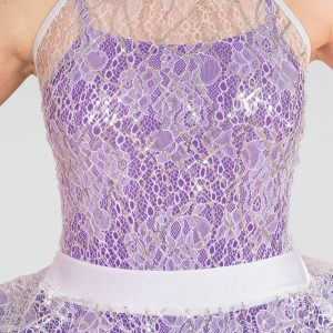 1st Position High Neck Sequin Lace Tutu Overlay