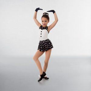 1st Position Polka Dot Unitard and Skirt