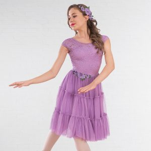 1st Position Ruffle Detail Tiered Lyrical Dress