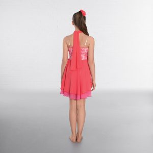 1st Position Sequin Floral Lace Double Skirted Lyrical Dress
