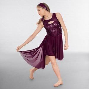 1st Position Sequin Lyrical Dress with Wrap Around Skirt