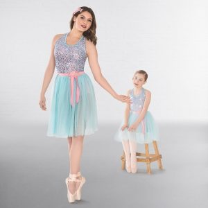 1st Position Sequin Two Tone Lyrical Dress