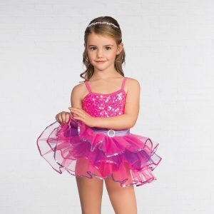 IN STOCK Pink Floral Lace Halter Sparkle Net Romantic Ballet Tutu Dance Costume