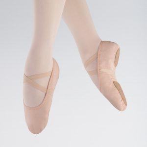 1st Position Split Sole Canvas Flex Ballet Shoe