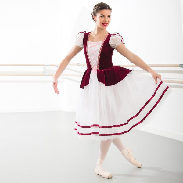 1st Position Velour Corset Bodice Ballet Dress