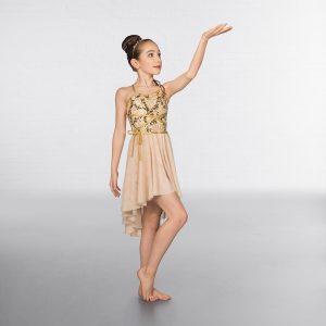 1st Position Wrap Around Sequin Dipped Hem Lyrical Dress