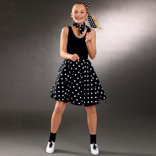 Adult Polka Dot Skirt (Adjustable Waist)