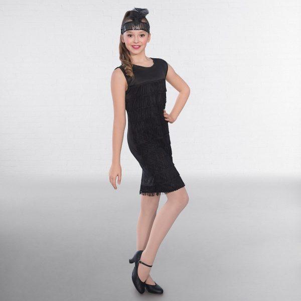 Black Flapper Dress Childs