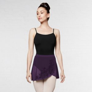 Bloch Lenore Flocked Wrap Skirt