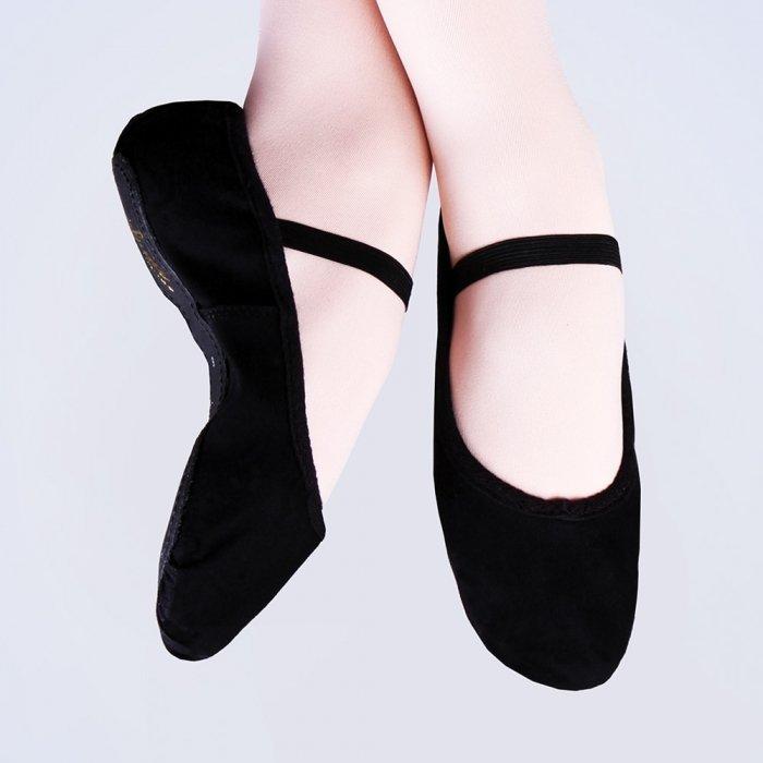 Canvas Ballet Shoes in Ballet Pink or Black