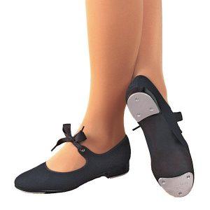 Capezio Canvas Jr Tyette Tap Shoes - Black