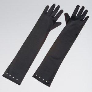 Child Size Satin Gloves with Gem Trim