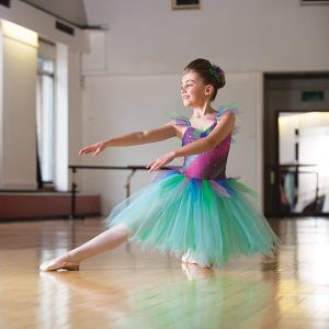 Colourful Rainbow Ballet Dress